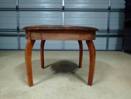 Teak round coffee table