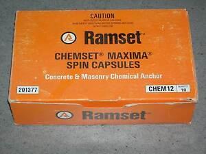 Ramset Chemset Maxima Spin Capsules - CHEM12 - Box of 10 Alice Springs Alice Springs Area Preview