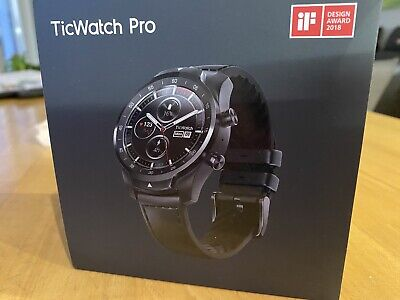 TicWatch Pro Smartwatch mit Wear OS / Bluetooth / Dual Layer Display