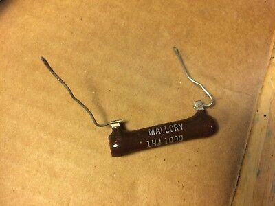 Nos Vintage Mallory 1000 Ohm 10w 10 Watt Wirewound Power Resistor Brown Devil