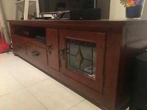 Solid Wood TV Lowline Unit ** SOLD & PENDING PICK UP ** Newmarket Brisbane North West Preview