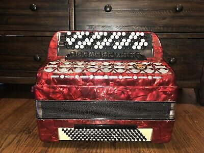 Royal Standard 5 Row Button Accordion Germany B-System Bayan 120 Bass/87 Treble