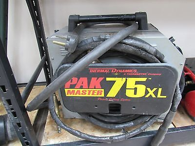 Thermal Dynamics Pak 75xl Plasma Cutter With Manual Cuts Up To 34