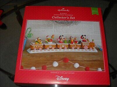 Disney Christmas Express Collector's 2016 Hallmark Limited Edition Train Set