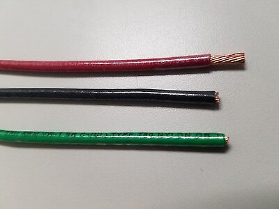 4 X 75 Thhn 10 Awg Gauge Black Red Green White Nylon Stranded Copper Wire