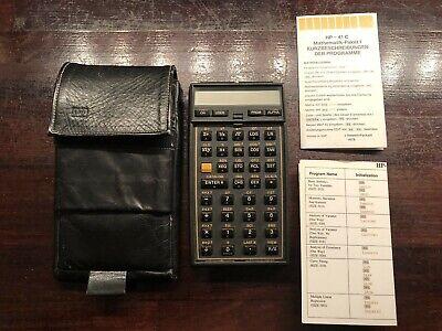 HP-41C Hewlett Packard HP 41C Taschenrechner HP 41 C Calculator