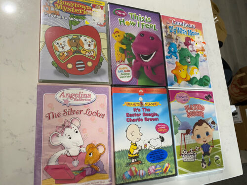 DVD Lot Of 6 Children Family Classics Barney Angelina Care Bears Charlie Brown - $2.99