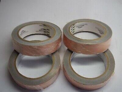 Lot Of 4 Saint-gobain C665 Copper Foil Conductive Shielding Tape 1.0 X 18 Yards