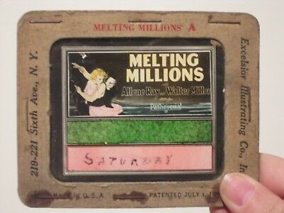 Melting Millions - Original 1927  Movie Glass Slide - Ray