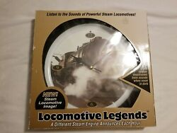 Locomotive Legends Steam Engine Train Sounds 13 Inch Hanging Wall Clock