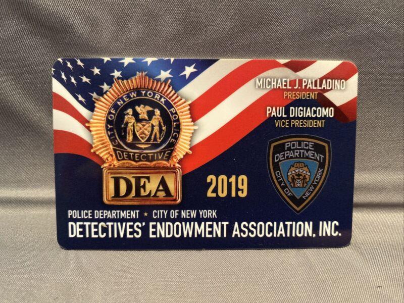 2019 NYPD DEA COURTESY COLLECTIBLE UNION CARD NYPD Detective