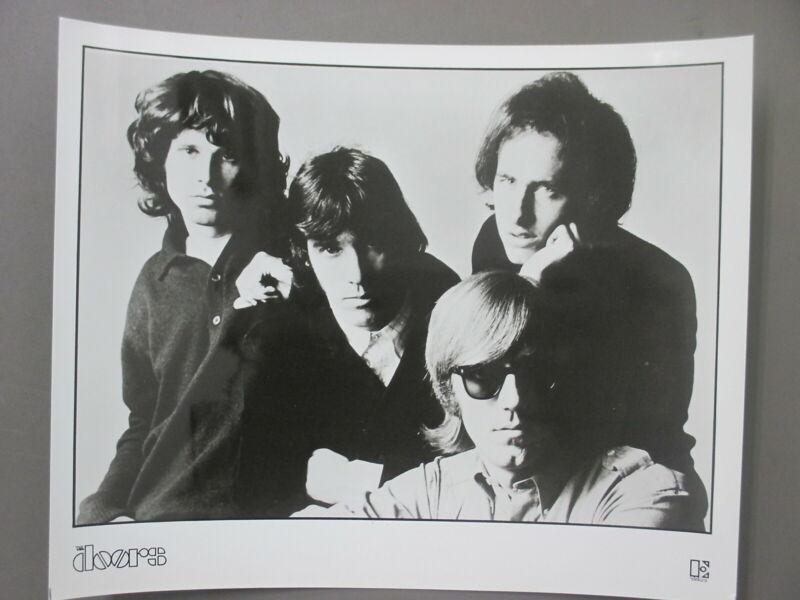 The Doors Jim Morrison promo photo 8X10 black & white glossy Classic Group shot!