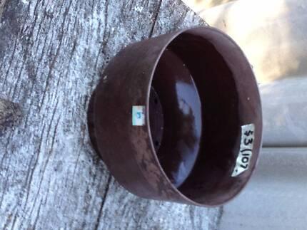 Brown 'Decor' plastic pot
