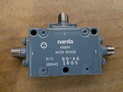 Narda Microwave Mod 80008 Double Balanced Frequency Mixer Smaf Lo If Rf 1665