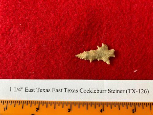 "1 1/4"" Fine Cocklebur Steiner, Authentic Arrowhead, Artifact, Rockwell Texas"
