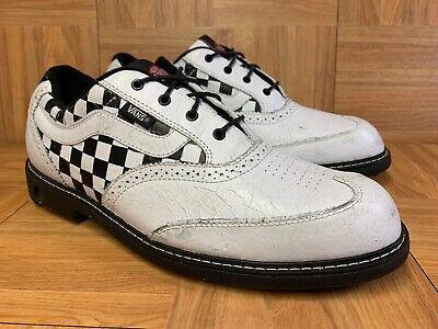 RARE🔥 VANS Off The BALL Golf Checkerboard Shoes 10.5 Wingtip Vintage Sk8 Wang