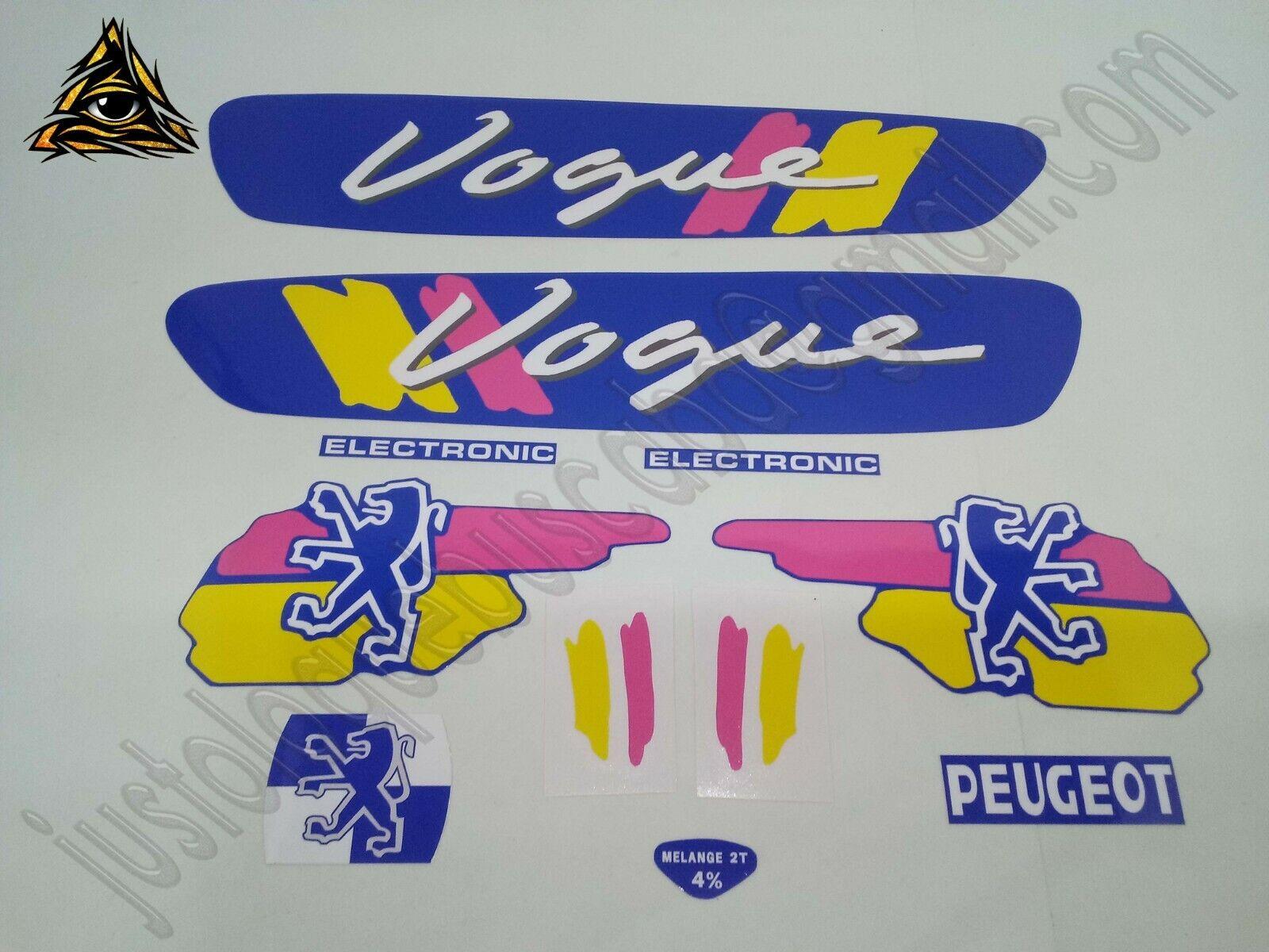 Autocollant mobylette Peugeot 103 Vogue 1987 Bleu