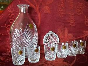 Crystal D'Arques Decanter with 6 matching shot glasses Chadstone Monash Area Preview