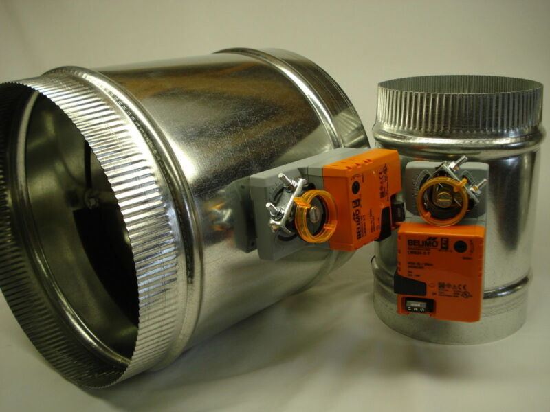 SD-12 inch Belimo 3 wire Motorized 24v round zone control damper