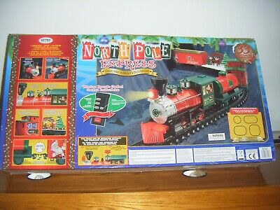 North Pole Express Christmas Train Set 33 Piece Working Lights Remote Control