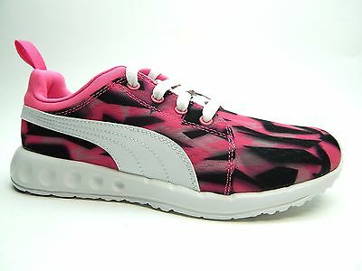PUMA CARSON RUNNER GEO CAMO FLURO PINK CO-WHITE WOMEN SHOES SIZE 7](Fluro Pink Shoes)