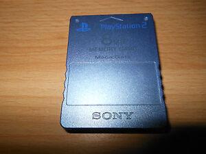 PLAYSTATION-2-Raro-Azul-Aqua-8mb-Tarjeta-de-memoria-Oficial-magicgate-PS2