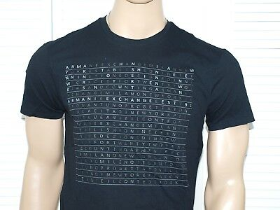 Armani Exchange Authentic Mini Print Logo T Shirt Black, Ochre or White NWT