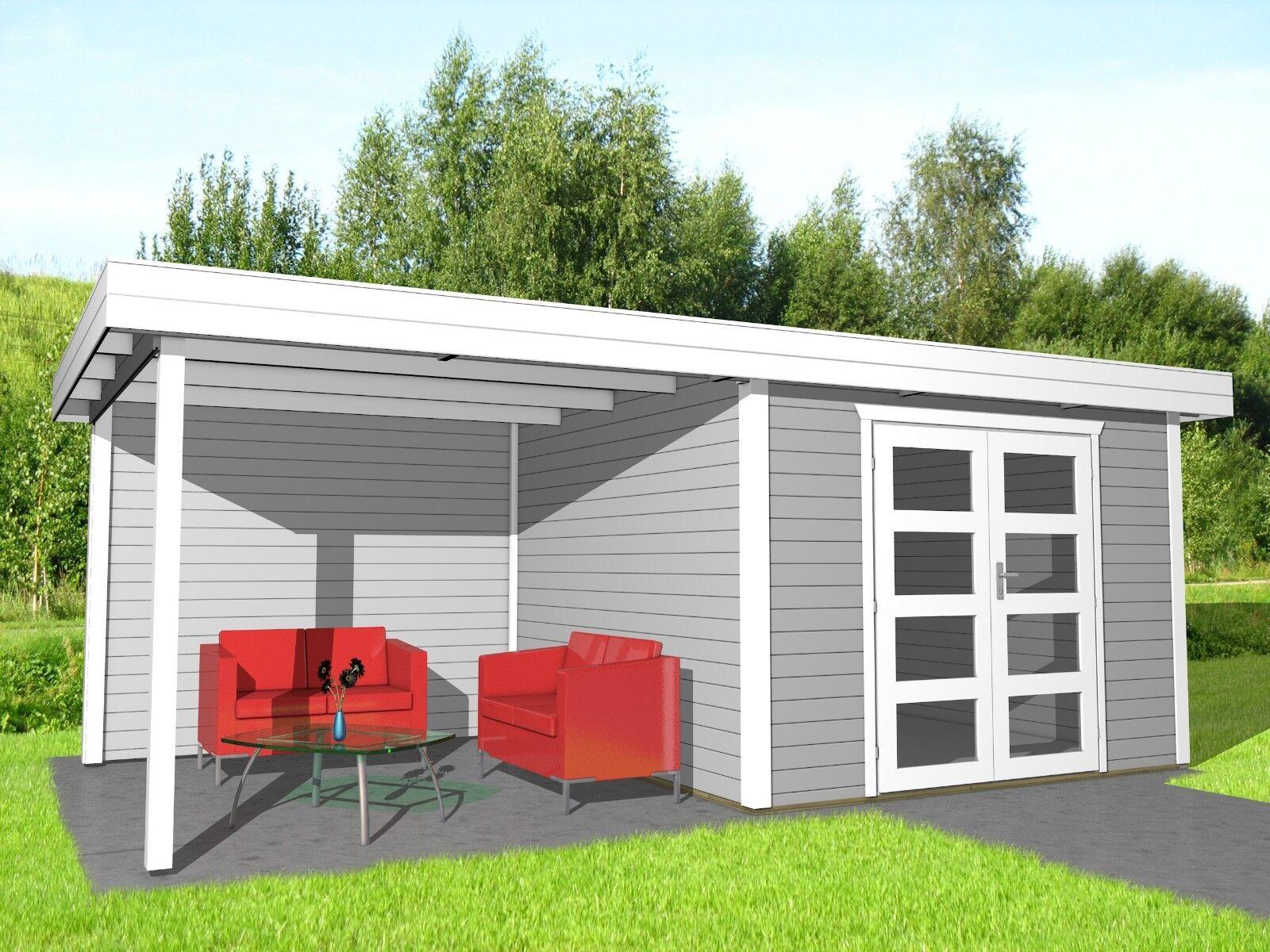 gartenhaus flachdach 28mm ger tehaus holz anbau. Black Bedroom Furniture Sets. Home Design Ideas