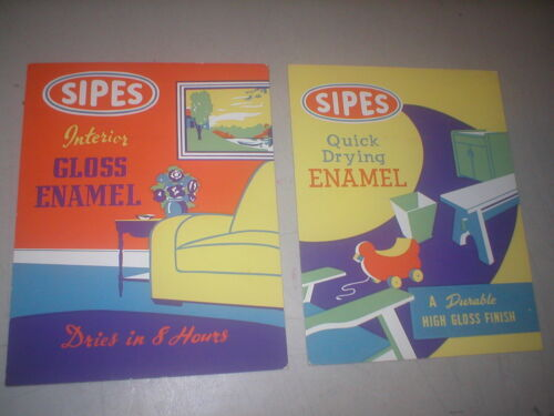NOS SIPES PAINT HARDWARE COUNTER DISPLAY CARDBOARD SIGNS PITTSBURGH
