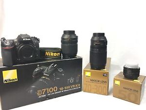 Mint condition Nikon d7100 and 3 LENSES