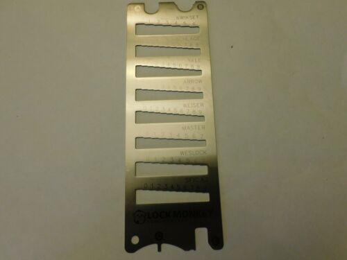 12 in 1 Key Decoder Gauge SCHLAGE KWIKSET ARROW SFIC A2 LOCKSMITH Locksport