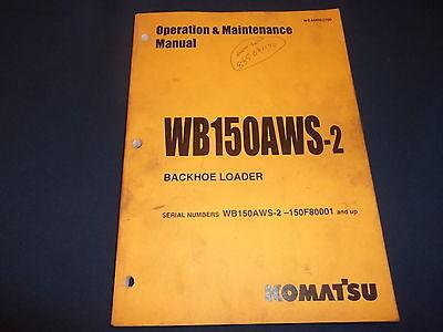 Komatsu Wb150aws-2 Backhoe Loader Operation Maintenance Book Manual