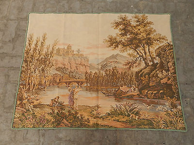 Vintage French Beautiful Scene Tapestry 137x107cm (A492)