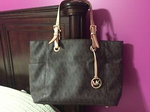 Michael Kors large tote logo bag