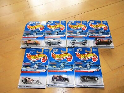 HOT WHEELS  2000 FIRST EDITION  ONE EACH,  #4, #8, #9, 11, 13, 17, 19