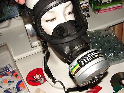 Msa Auer 3s Gas Mask-new Not Used In Original Package Filter Canister Included