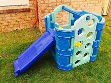 Playgym single set with reversible blue slide and waterplay swing Ocean Reef Joondalup Area Preview