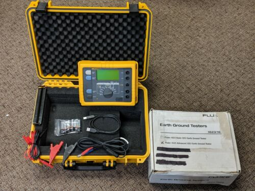 New Fluke 1625-2 Advanced GEO Earth Ground Tester, Original Box, Waterproof Case