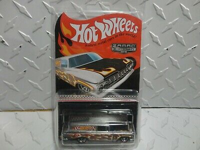 Hot Wheels 2016 ZAMAC Edition '59 Chevy Delivery Wagon w/Real Riders