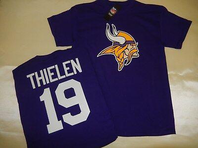 - 9725 MENS NFL Minnesota Vikings ADAM THIELEN Football Jersey Shirt New PURPLE