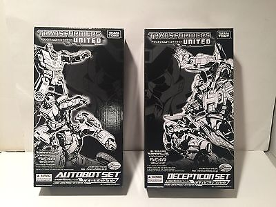 Transformers United Set Generations Deluxe g1 lot Takara Tomy Autobot Decepticon