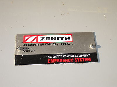 Zenith Cls Ztsdh15-7 Automatic Transfer Switch 150225260 Amp 240277480 3ph