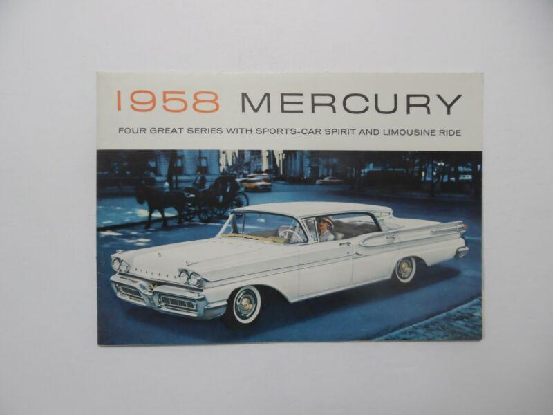 1958 Mercury Brochure Park Lane Montclair Monterey Vintage Original