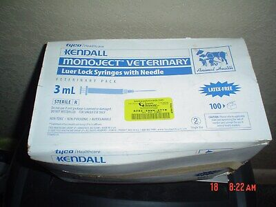 Kendall Monoject 3 Ml Syringes With Needles