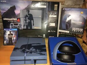 LE Uncharted 4: A Thief's End PS4 w/Gold Wireless Stereo Headset