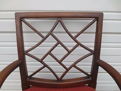 Arm Chair Fretwork Chinese Chippendale Cocken ST Wood Hollywood Regency Captain , used for sale  Sarasota