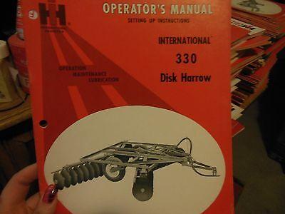International Harvester Ih 330 Disk Harrow Operator Manual