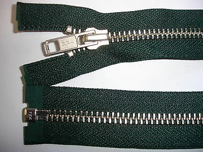 1 Stück Reißverschluß YKK dunkelgrün 62cm lang,  teilbar Y114