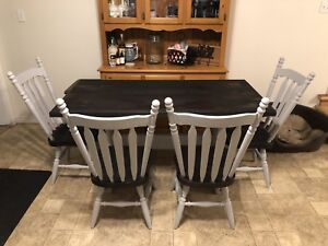 Pine Table & 4 Pine Chairs