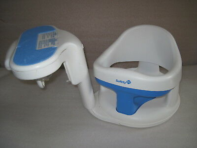 Safety First 1st Tubside Swivel Baby Bath Tub Seat Chair Ring Bathtub White Blue for sale  Akron